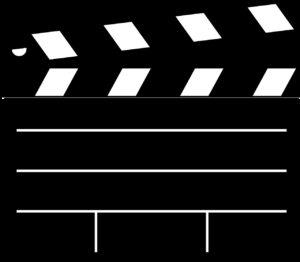 clapboard, movie, film